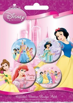 Badges LES PRINCESSES DISNEY