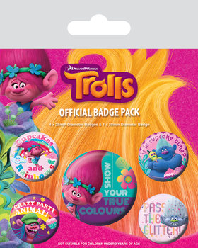 Badges Les Trolls - True Colours
