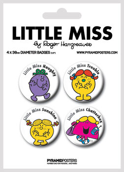 Badge set Little Miss - Characters