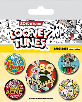 Badge set Looney Tunes - Bugs Bunny 80th Anniversary