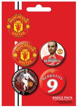 MANCH. UNITED - Berbatov Badge Pack