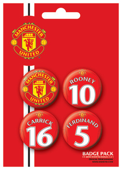 MANCH. UNITED - Players 2 Badge Pack