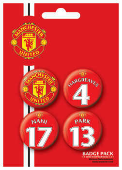 MANCH. UNITED - Players 3 Badge Pack