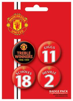 Badge set MANCH. UNITED - Treble winner