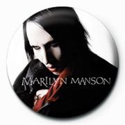 Marilyn Manson - Black PY Badge