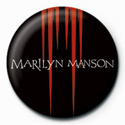 Marilyn Manson - Red Spikes Badge