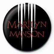 Marilyn Manson - White speaker Badge