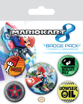 Mario Kart 8 Badge Pack