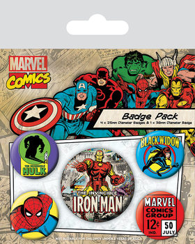Badge set Marvel Retro - Iron Man