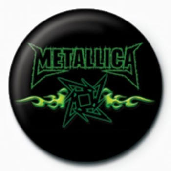 METALLICA - green flames GB Badges