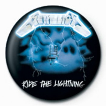 METALLICA - ride the lightening GB Badge
