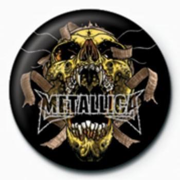 METALLICA - skull GB Badge