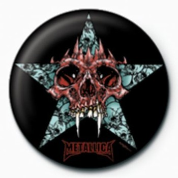 METALLICA - star GB Badge