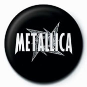 Badge METALLICA - white star  GB