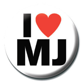 MICHAEL JACKSON - i love mj Badges