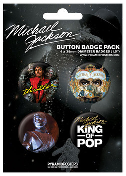 MICHAEL JACKSON - king of pop Badge Pack