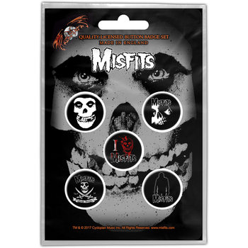 Misfits – Skull Button Badge