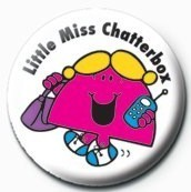 MR MEN (Little Miss Chatterbox) Badges