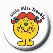 MR MEN (Little Miss Troubl Badge