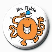 MR MEN (Mr Tickle) Badge
