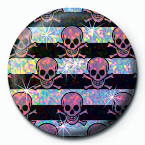 MULTI SKULL - Pink Badge