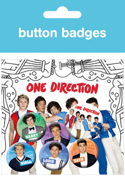 ONE DIRECTION – cartoons Badge Pack