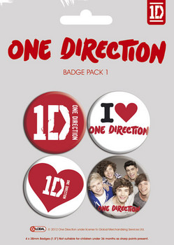ONE DIRECTION - pack 1 Badge Pack