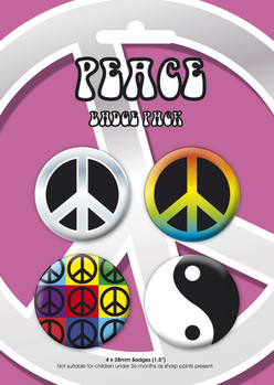 Badges PEACE GB Pack