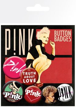Badges PINK - truth about love
