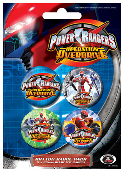 Badges POWER RANGERS - Colours