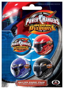 Badge set POWER RANGES - Group