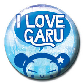 PUCCA - i love garu Badges
