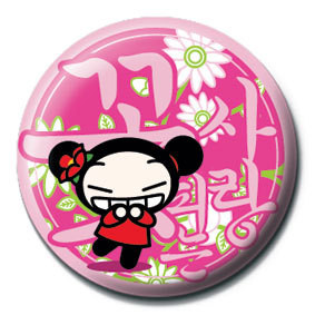 PUCCA - pink Badges