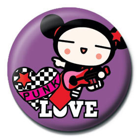 PUCCA - purple punk love Badges