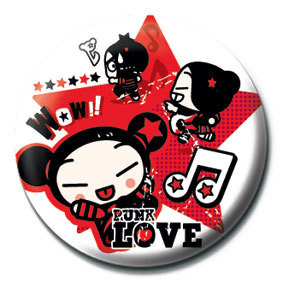 PUCCA - red star Badges