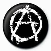 PUNK - ANARCHY - (WHITE) Badge