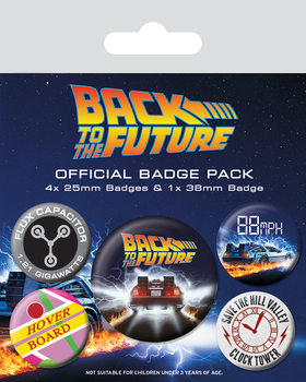 Badges Retour vers le futur - Delorean