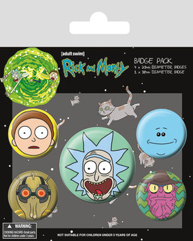 Rick and Morty - Heads Badge Pack