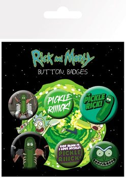 Rick and Morty - Pickle Rick Badge Pack