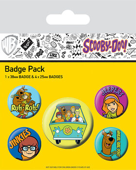 Badge set Scooby Doo - Mystery Machine Team