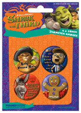 SHREK 3 - characters Badge Pack