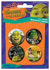 SHREK 3 Badge Pack