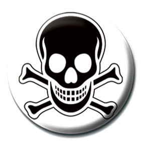 SKULL and CROSSBONES - Black Badges