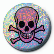 SKULL PINK Badge