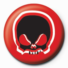 SKULL (RED) Badge