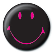SMILEY - black Badges