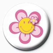 SMILEY - FLOWER Badge