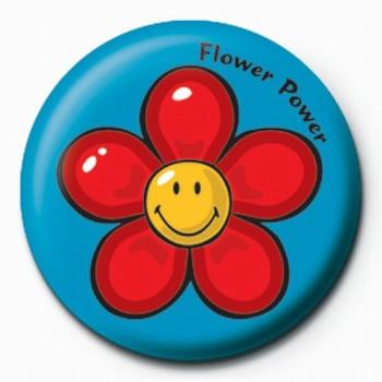 Smiley World-Flower Power Badge