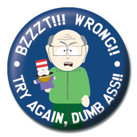 SOUTH PARK - Bzzzt!! Wrong!! Badge