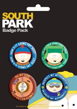 SOUTH PARK - characters Badge Pack